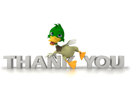 thank you duck 